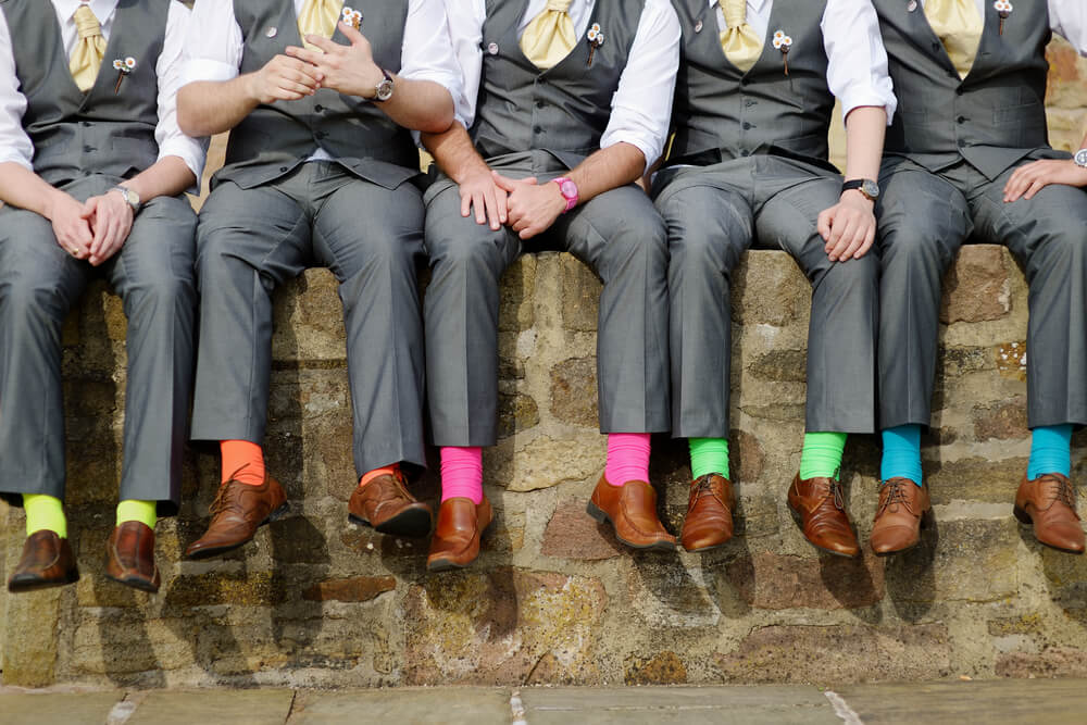 groomsmens colored socks